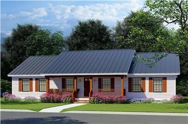 3-Bedroom, 1856 Sq Ft Ranch Plan #193-1222 - Front Exterior