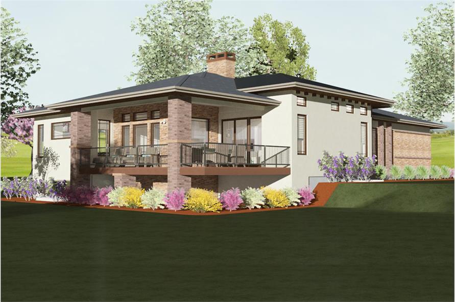 194-1000: Home Plan Rendering-Landscaping: Garden