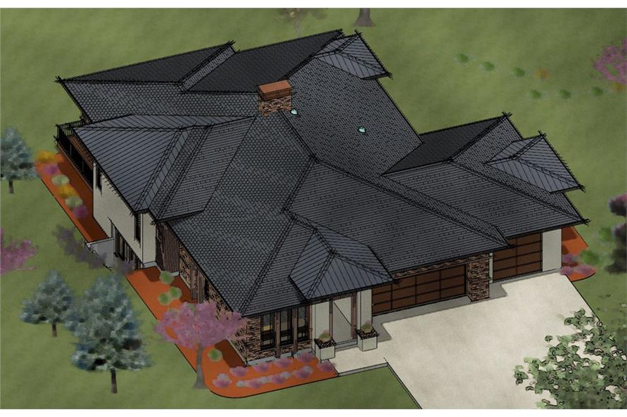 194-1000: Home Plan 3D Image