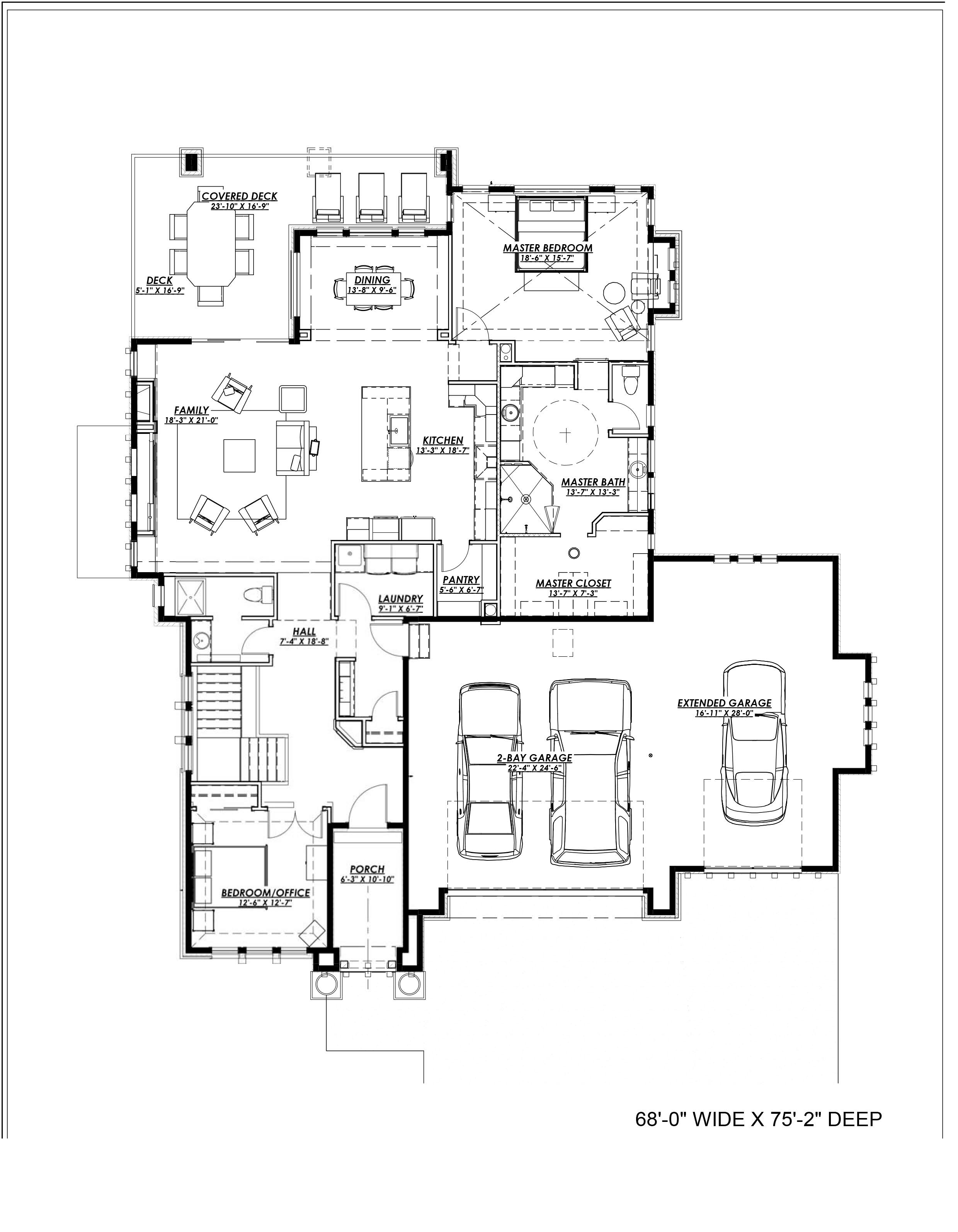 Prairie House Plan 194 1000 2 Bedrm 2200 Sq Ft Home Plan