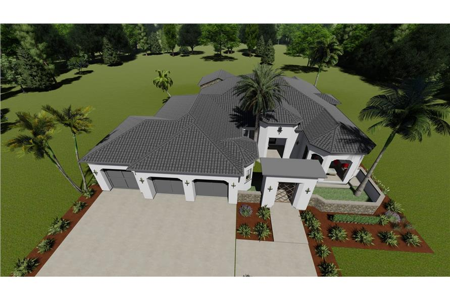 Home Plan 3D Image of this 2-Bedroom,2380 Sq Ft Plan -2380