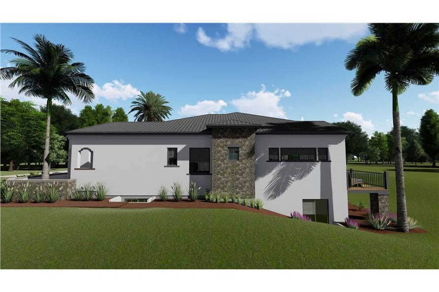 Home Plan Right Elevation of this 2-Bedroom,2380 Sq Ft Plan -194-1001