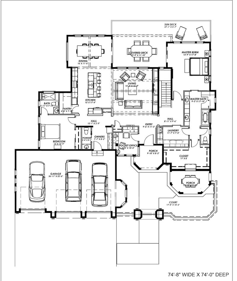 Modify house plan 194 1001 - House plans one story with basement collection ...