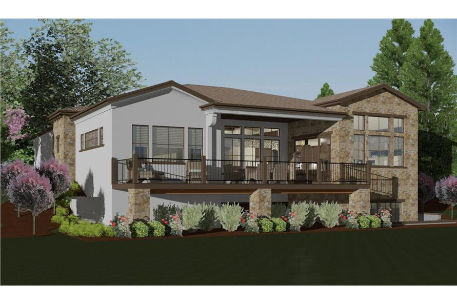 194-1001: Home Plan Rendering-Deck