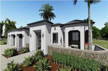 2-Bedroom, 2380 Sq Ft Spanish Home - Plan #194-1001 - Main Exterior