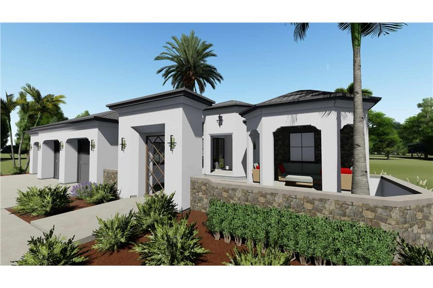 2-Bedroom, 2380 Sq Ft Spanish Home - Plan #194-1001 - Main Exterior