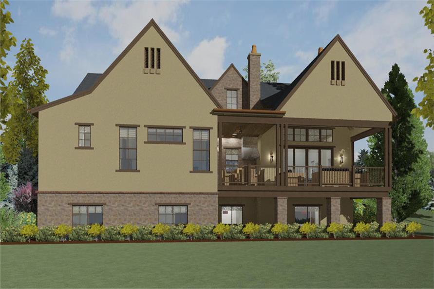 194-1003: Home Plan Rendering-Deck