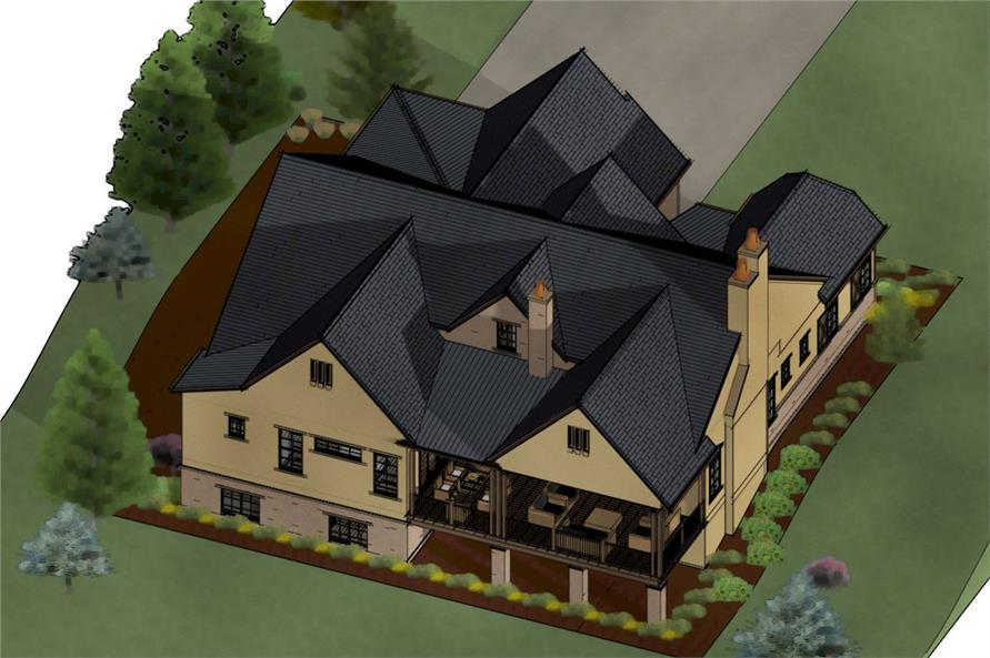 194-1003: Home Plan 3D Image