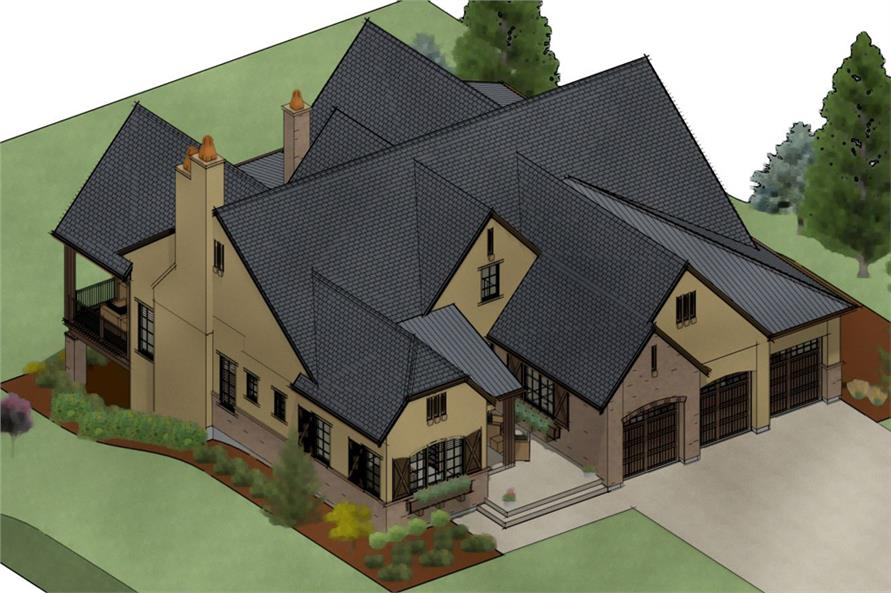 194-1003: Home Plan 3D Image