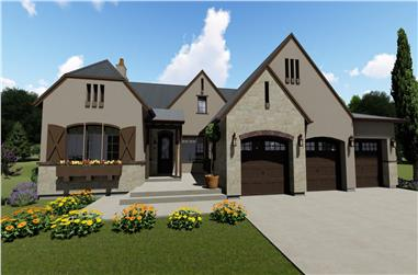 3-Bedroom, 2514 Sq Ft Contemporary House - Plan #194-1003 - Front Exterior
