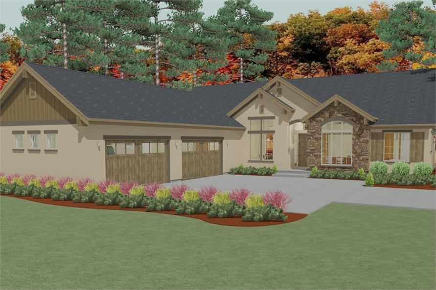 Home Plan Rendering of this 3-Bedroom,2405 Sq Ft Plan -2405
