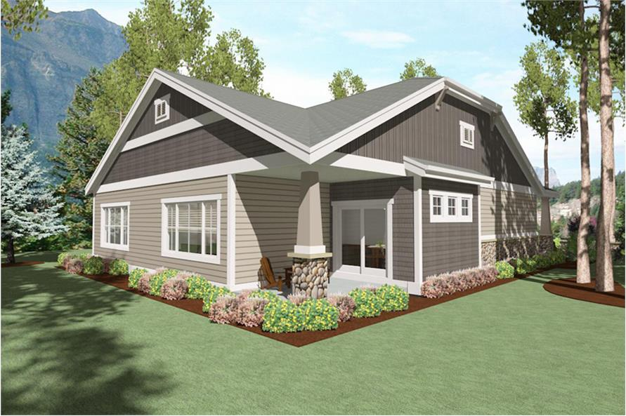 Home Plan Rear Elevation of this 2-Bedroom,1760 Sq Ft Plan -194-1005
