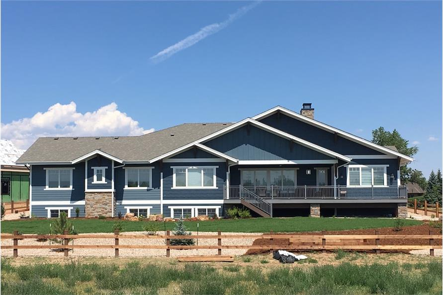 Rear View of this 4-Bedroom,3968 Sq Ft Plan -3968