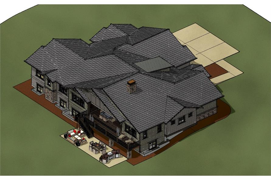 Home Plan Other Image of this 4-Bedroom,3968 Sq Ft Plan -3968