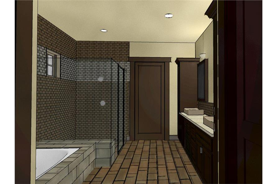 194-1007: Home Plan 3D Image-Master Bathroom