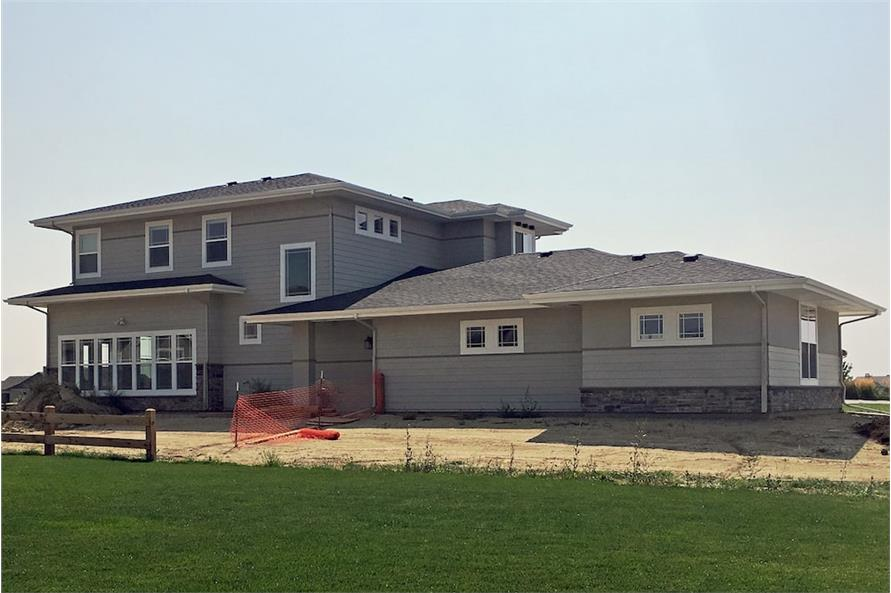 Rear View of this 4-Bedroom,2900 Sq Ft Plan -2900
