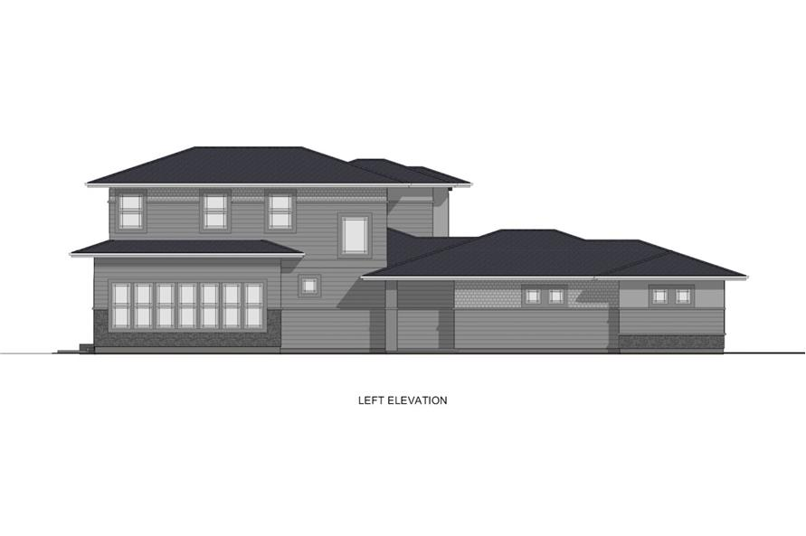 Home Plan Left Elevation of this 4-Bedroom,2900 Sq Ft Plan -194-1008