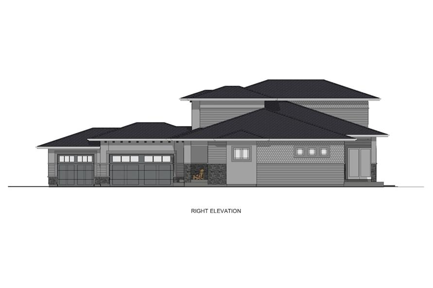 Home Plan Right Elevation of this 4-Bedroom,2900 Sq Ft Plan -194-1008