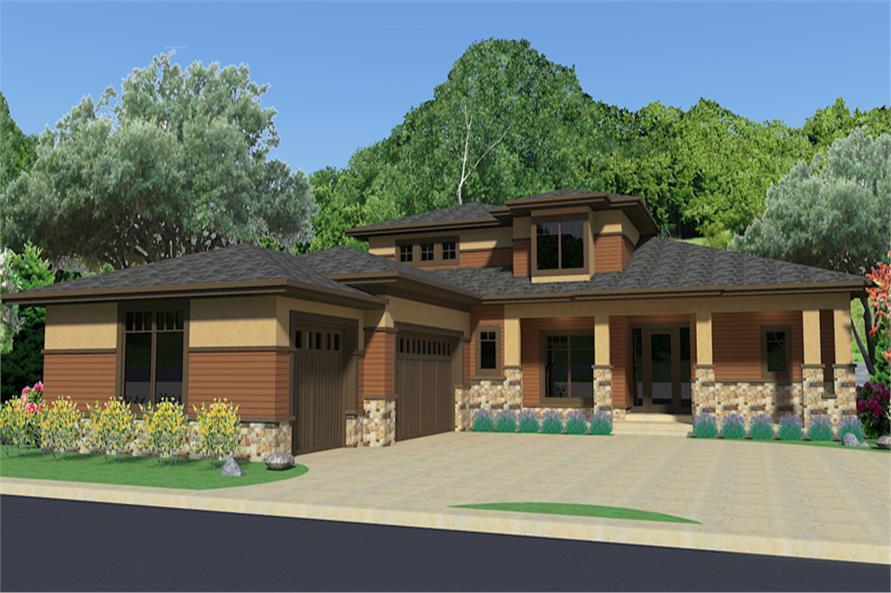 Home Plan Rendering of this 4-Bedroom,2900 Sq Ft Plan -2900