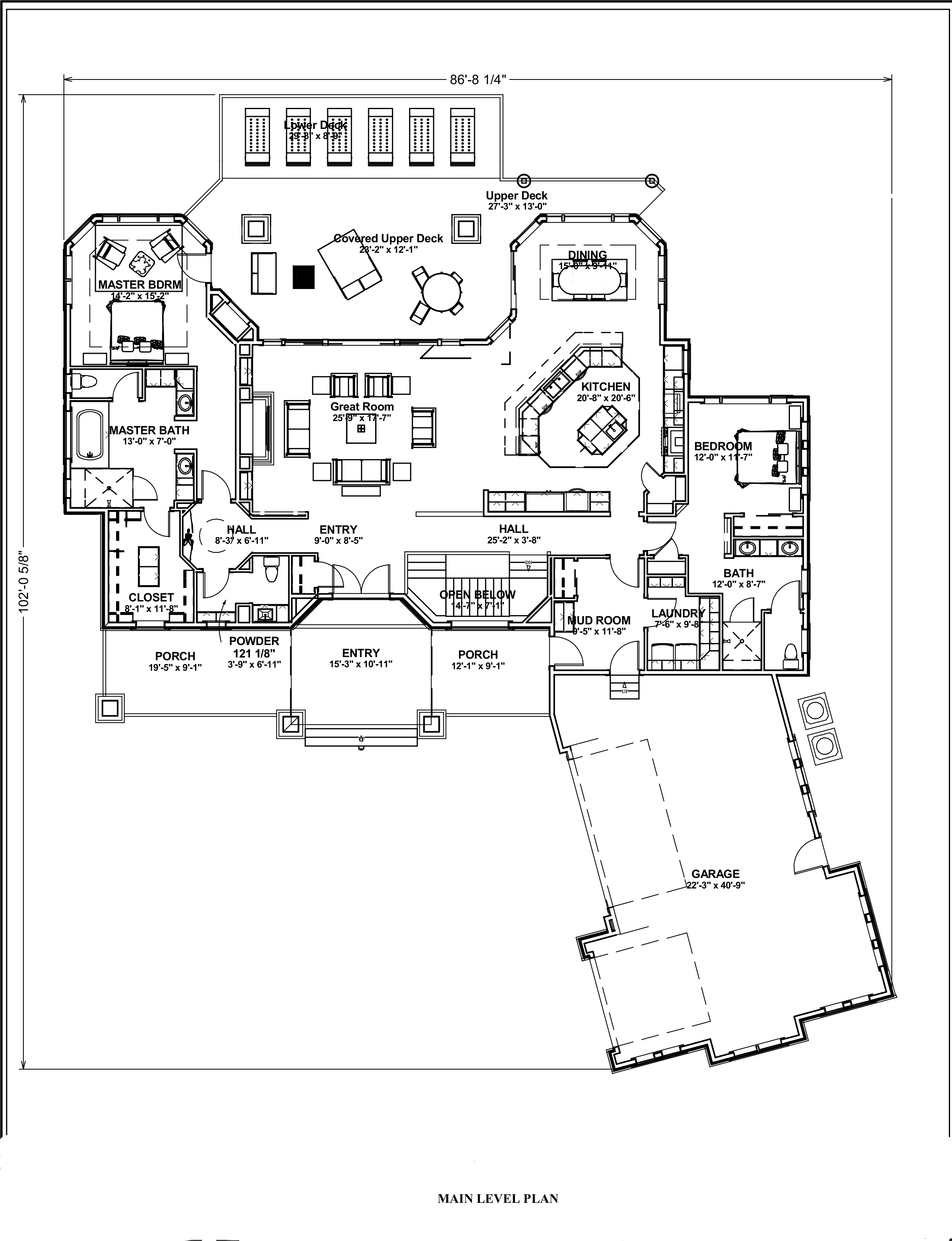Transitional Ranch House Plan 2 Bedrms 2 5 Baths 2605