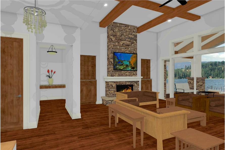 Living Room of this 2-Bedroom,2605 Sq Ft Plan -2605