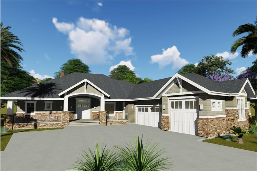 Home Plan 3D Image of this 2-Bedroom,2605 Sq Ft Plan -2605