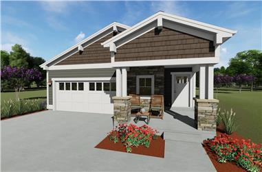 3-Bedroom, 1470 Sq Ft Craftsman Home - Plan #194-1013 - Main Exterior