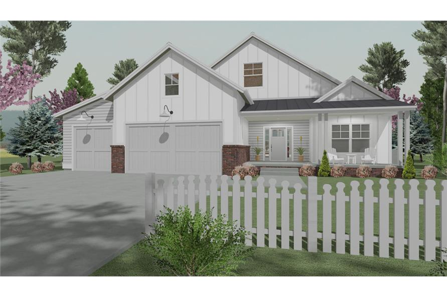2-Bedroom, 1463 Sq Ft Farmhouse House - Plan #194-1015 - Front Exterior