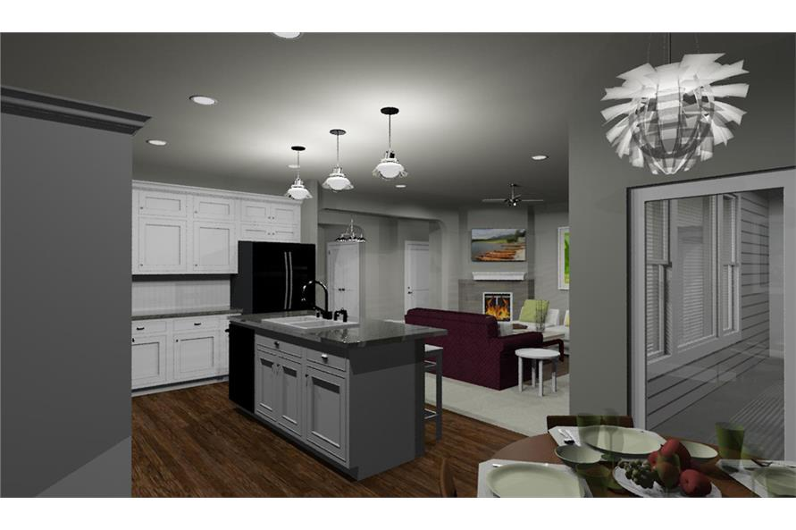 Home Interior Photograph of this 2-Bedroom,1463 Sq Ft Plan -194-1016