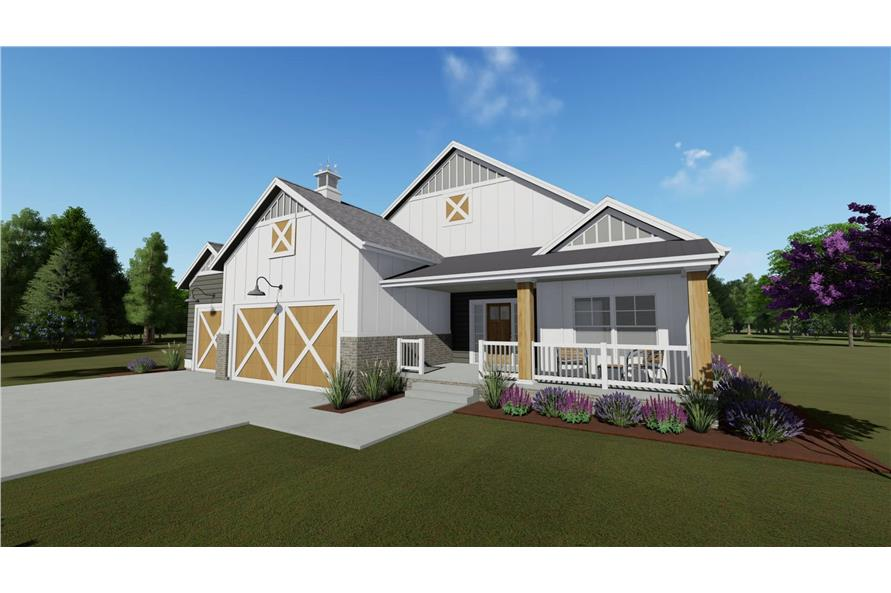 Home Plan Rendering of this 2-Bedroom,1463 Sq Ft Plan -1463