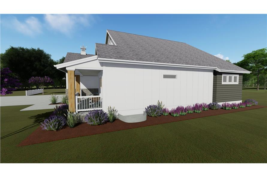 Home Plan Right Elevation of this 2-Bedroom,1463 Sq Ft Plan -194-1016