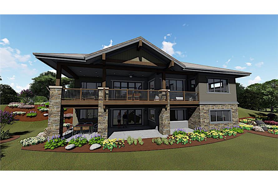 Home Plan 3D Image of this 3-Bedroom,2459 Sq Ft Plan -2459