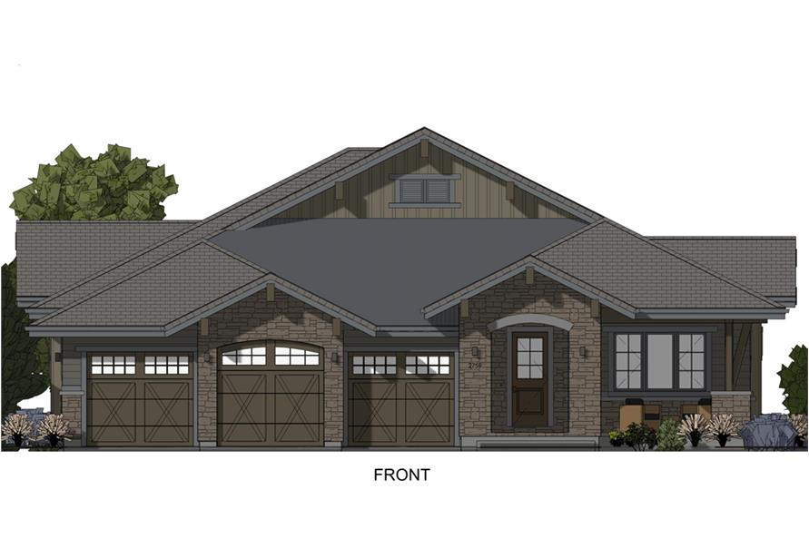 Home Plan Front Elevation of this 3-Bedroom,4254 Sq Ft Plan -194-1017