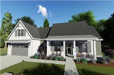 3-Bedroom, 2576 Sq Ft Country House - Plan #194-1020 - Front Exterior