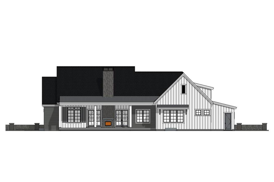 Home Plan Rear Elevation of this 3-Bedroom,3036 Sq Ft Plan -194-1022