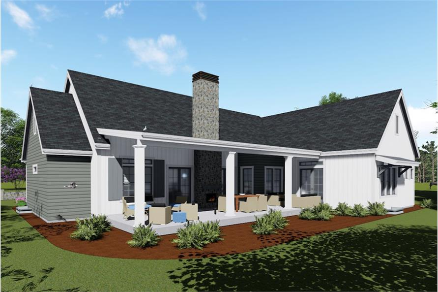 Home Plan Rendering of this 3-Bedroom,2593 Sq Ft Plan -2593