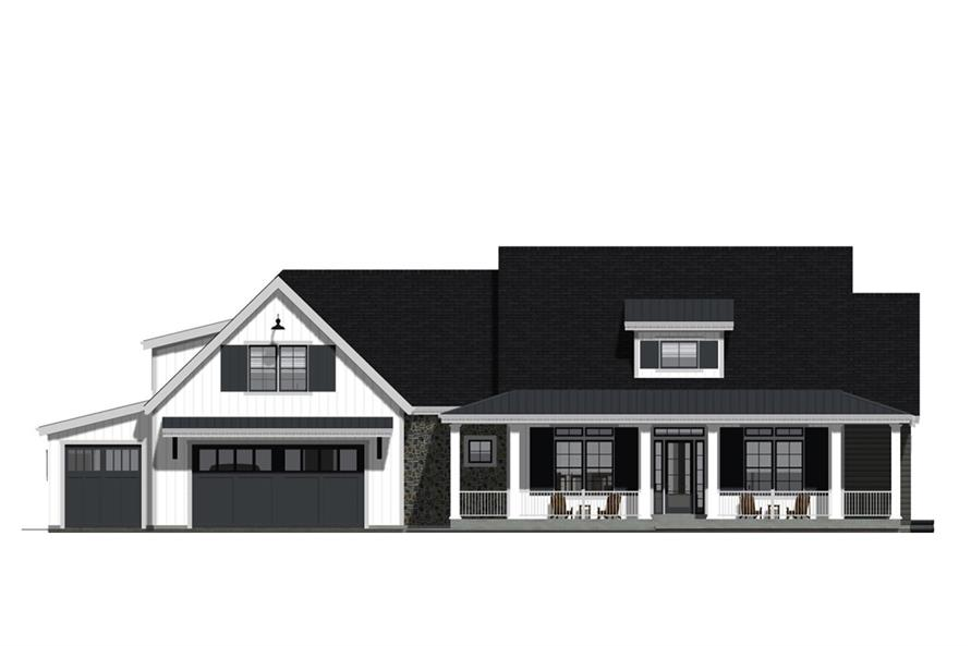 Home Plan Front Elevation of this 3-Bedroom,3036 Sq Ft Plan -194-1022