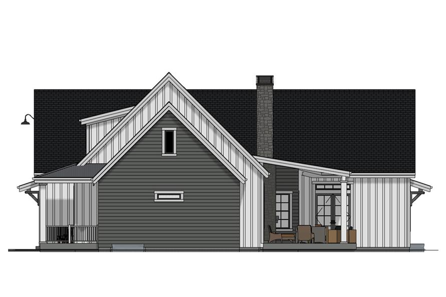 Home Plan Right Elevation of this 3-Bedroom,3036 Sq Ft Plan -194-1022