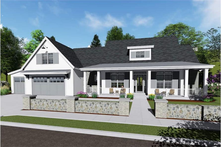 3-Bedroom, 2593 Sq Ft Transitional House - Plan #194-1022 - Front Exterior