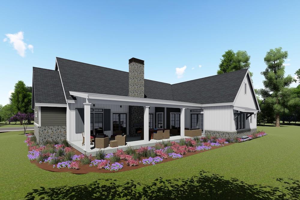 Farmhouse Home 3 Bedrms 2 5 Baths 3215 Sq Ft Plan 194 1023