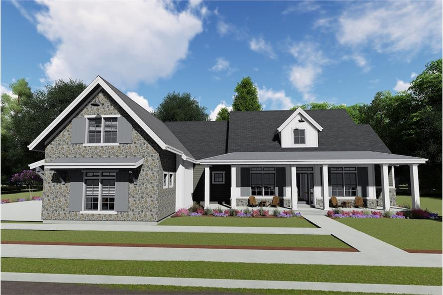 Home Plan Rendering of this 3-Bedroom,3215 Sq Ft Plan -3215