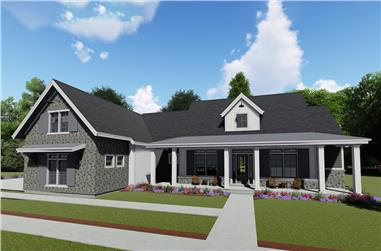 3-Bedroom, 3215 Sq Ft Farmhouse House Plan - 194-1023 - Front Exterior