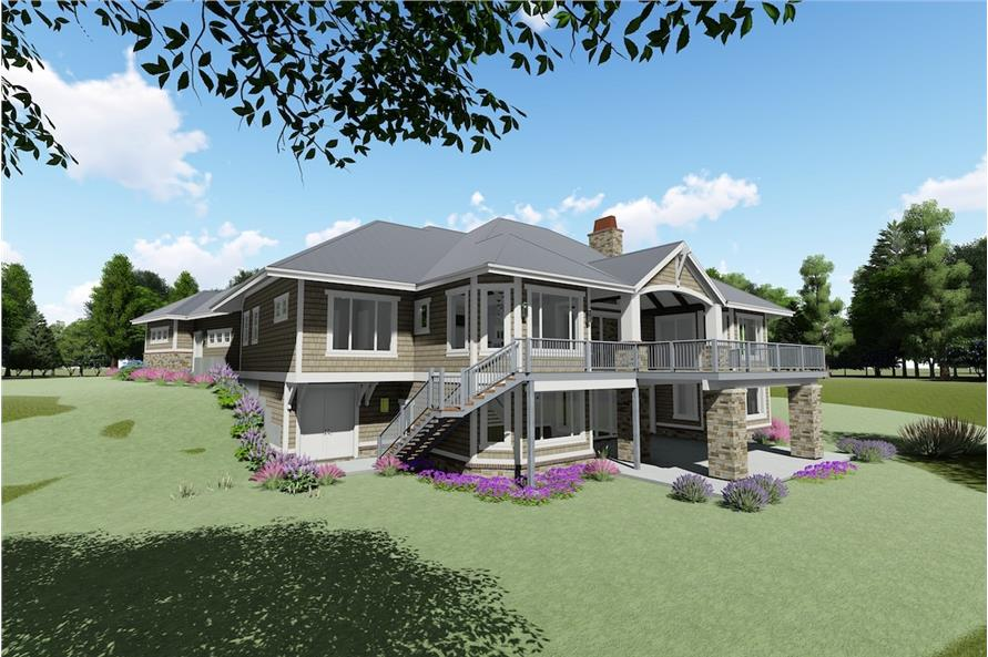 Home Plan Rear Elevation of this 2-Bedroom,2318 Sq Ft Plan -194-1025