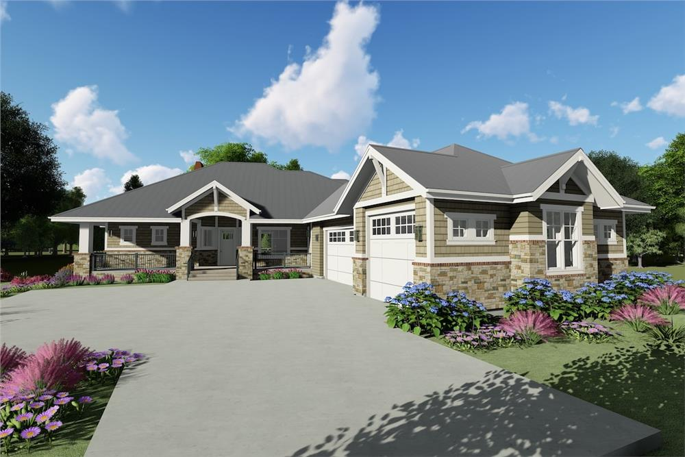 Country style home (ThePlanCollection: Plan #194-1025)
