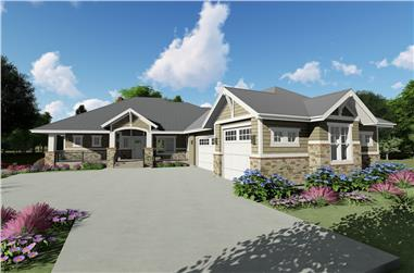2-Bedroom, 2366 Sq Ft Country Home – Plan #194-1025 - Main Exterior