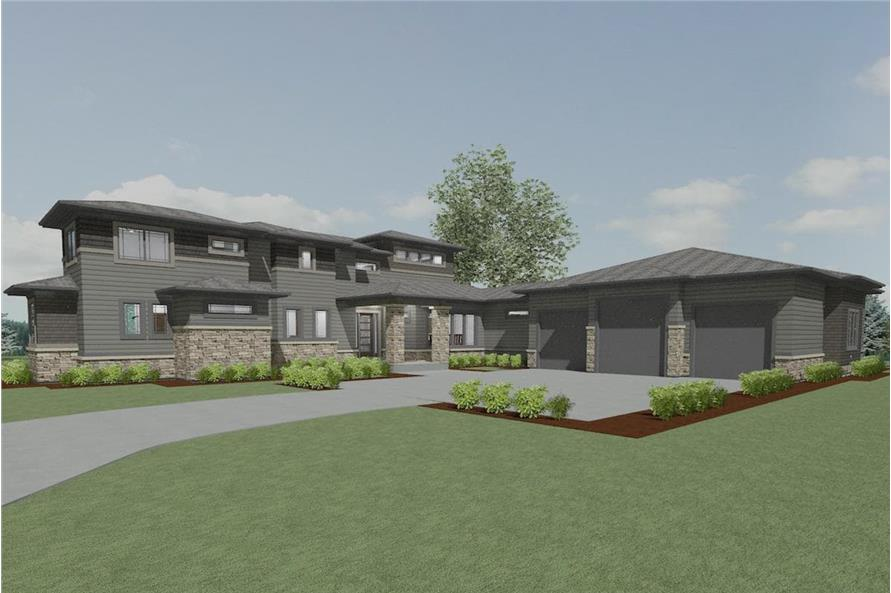 Home Plan 3D Image of this 5-Bedroom,3447 Sq Ft Plan -3447