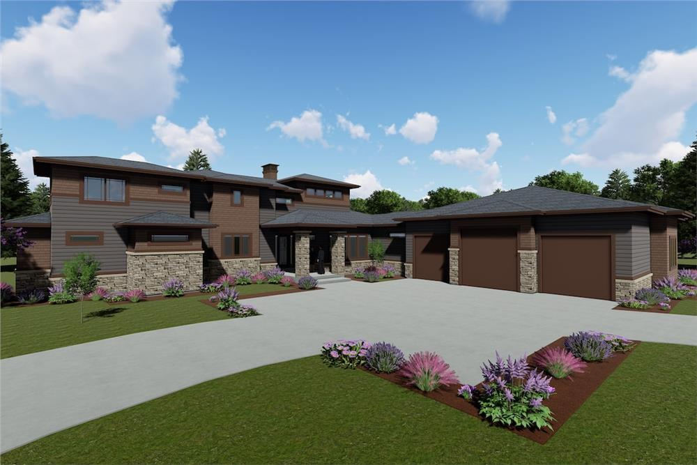 Prairie style Contemporary home (ThePlanCollection: Plan #194-1026)