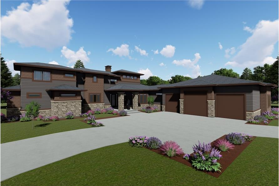 5-Bedroom, 3447 Sq Ft Prairie Home - Plan #194-1026 - Main Exterior