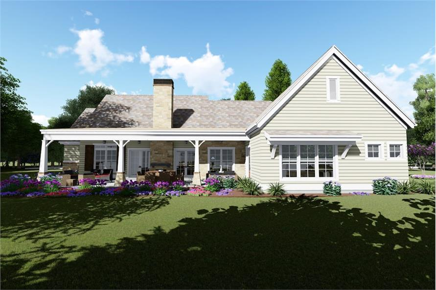 Home Plan 3D Image of this 3-Bedroom,3037 Sq Ft Plan -194-1029