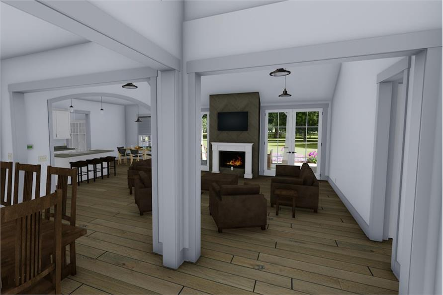 Great Room of this 3-Bedroom,2593 Sq Ft Plan -2593